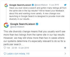nowa zmiana w SERP-ach Google